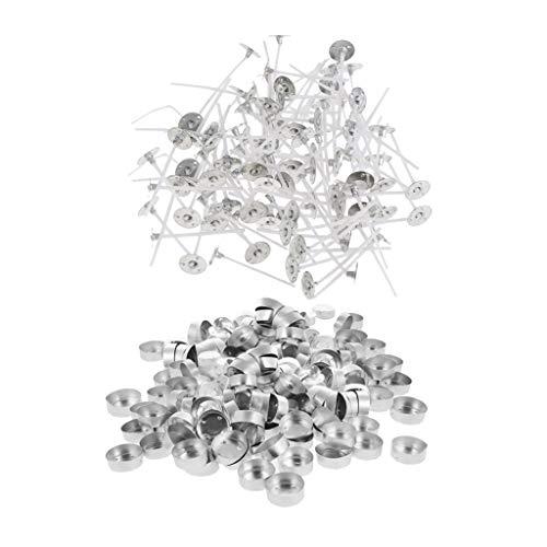 Almencla 400 Pieces Aluminium Plain Top Case- Tea Light Holder Cups/Case/Containers