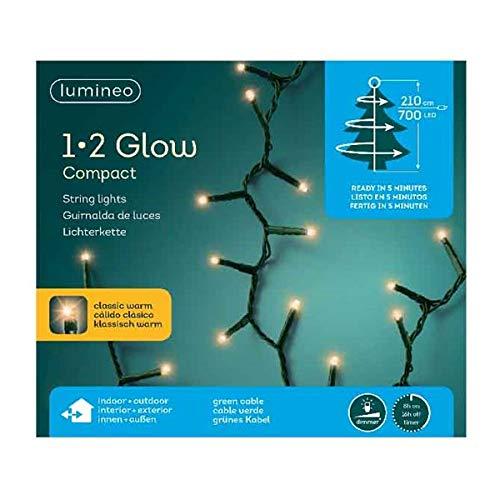 Lumineo LED-Lichterkette, 700 LED\'s 2,1 Meter, Dimmbar mit Timer