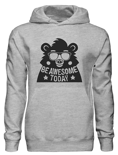 Be Awesome Today Cool Bear con gafas de sol Pullover Sudadera con capucha bnft, gris, S