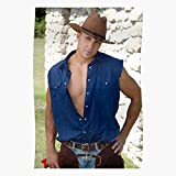 Mens Hunk Guy Gay Western Leather Chaps Cowboy Jeans I Cowboy- The Best and Newest Poster for Wall Art Home Decor Room I ! ! Customize