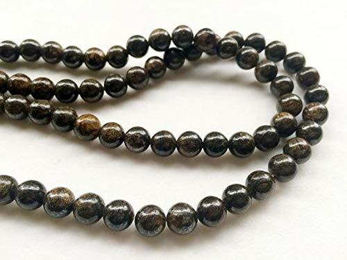 LOVEKUSH BEADS GEMSTONE 1 Strand Natural Bronzite Smooth Round Balls, Bronzite Necklace, Yoga Jewelry, 8mm, 14 Inch Code-RR-18984