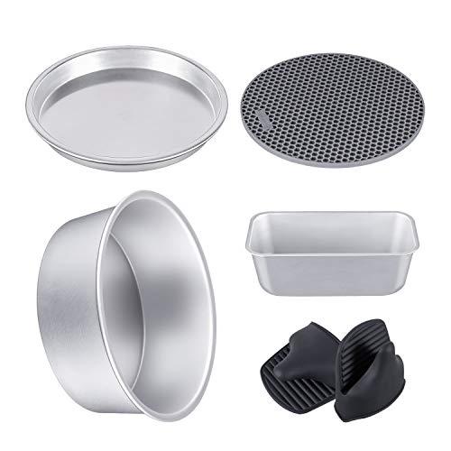 Backformen-Set aus eloxiertem Aluminium, kompatibel mit Ninja Foodi 5 & 6,5 & 8 qt (OP101, OP301, OP302, OP401, FD401)