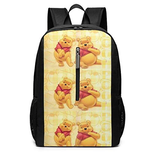 BUGKHD Laptop-Rucksack Winnie Pooh Großer Computer-Rucksack Schule Reiserucksack Casual Daypack für Damen/Herren