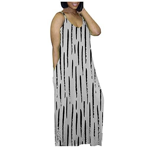 NBBD - Vestido largo para mujer, estilo bohemio 2021, sexy, vestido de cóctel maxi con flor, estampado de gran tamaño, elegante, informal, cuello en V, vestido de fiesta con abertura, 27-blanco, S