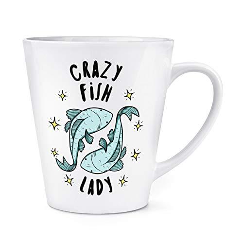 Crazy Poisson Lady Étoiles 12oz Latte Tasse Mug