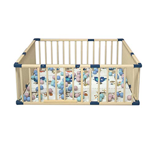 GUO@ Parc de bébé en bois bricolage changer de forme avec porte, sécurité Baby Play Centre d'activité clôture sans coussin, intérieur en plein air pour enfants de 10 mois ~ 6 ans