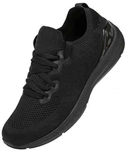 KOUDYEN Zapatillas Deporte Hombres Mujer Gimnasio Running Zapatos para Correr Transpirables Sneakers,XZ581-Black-EU39