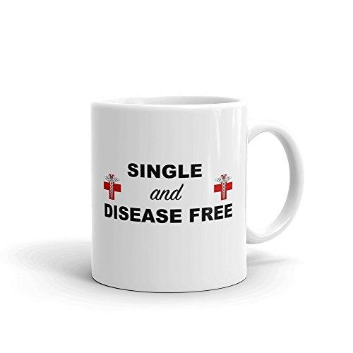 Simple et gratuit de maladies Funny Hilarante fantaisie Humour en céramique blancs de 311,8 gram en verre Café Thé Mug Tasse