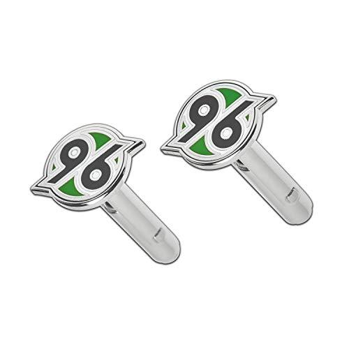 Hannover 96 Manschettenknöpfe Logo (2er Set) Cufflinks H96 - Plus Lesezeichen I Love Hannover