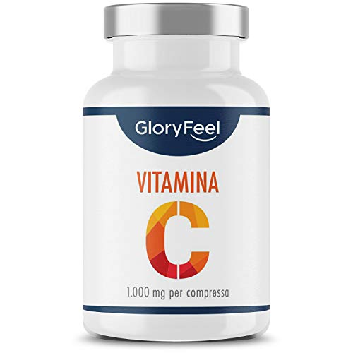 Vitamina C 1000mg ad Alto Dosaggio, 200 Compresse Vegan (6 mesi), Vitamina C Pura per Rinforzo Sistema Immunitario, Integratore Difese Immunitarie, Vitamin C Senza Lattosio, Senza Glutine