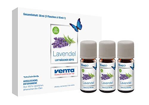 Venta Bio-Duft Lavendel, 100{85556c60e8b49bd7107e75a37cd60e880987962c3073867afffce25a018dec3a} natürliche ätherische Bio-Öle, 3 x 10 ml