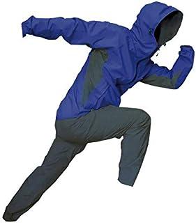 トオケミ(TOHKEMI) 【Field Equipage】 全天候型 アウトドア(透湿レイン) ウェア FE ストレッチ (スリムフィット) Rain Suit (#7900) + キャリーポーチ セット (色選択可能)