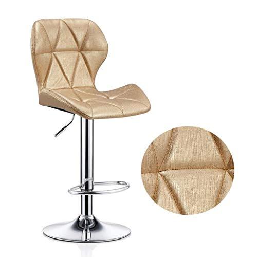 XQAQX kruk verstelbare gevoelige lederen bar stoelen stoelen zitting, startpagina teller zwenker-metalen ontbijt eetzaal barkrukken met rugleuning Stool