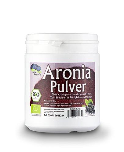 Aronia Pulver BIO - Hergestellt aus ganzen Aroniabeeren - Zum Einrühren in Speisen und Getränke