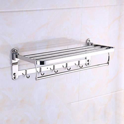 Towel Storage Rack Anti-rust Toilet Bathroom Washroom Towel Rack Wall Mounted Storage Hook Rod Holder Hanging Bar Towel Rail