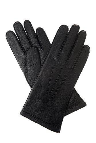 Herrenlederhandschuhe en cuir peccary aspect noir - Noir - 8
