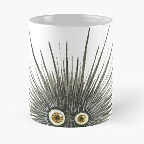 Lapuan Kankurit Alphabet Yellow Letter Eye U Urchin Sea Creature La Mejor Taza de café de cerámica Blanca de 11 oz