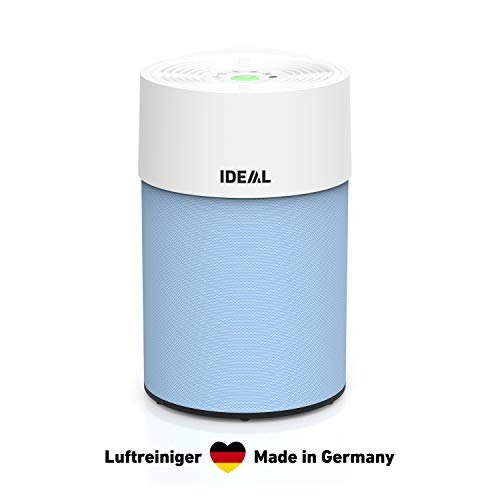 IDEAL - Luftreiniger AP30 PRO bis 40m² | Made in Germany | HEPA Filter und Aktivkohlefilter, CADR 301 m³/h, 99,99% Filterleistung (Allergene, Gerüche, Feinstaub, Zigarettenrauch, …) | Farbe Hellblau