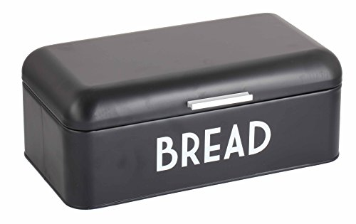 Home Basics Grove Bread Box For Kitchen Counter Dry Food Storage Container, Bread Bin, Store Bread Loaf, Dinner Rolls, Pastries, Baked Goods & More, Retro Vintage Design