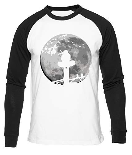 Luna Combatiente Camiseta De Béisbol Hombres Mujeres Unisex Blanco Cuello Redondo Manga Larga Algodon Organico tee Baseball T-Shirt Unisex White XL