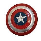Escudo Capitan America Niños 1: 1 Capitán América Disfraz de Metal Shield Hierro Forjado CapitáN AméRica Shield para niños y fanáticos de Cospiay,Painted 47cm