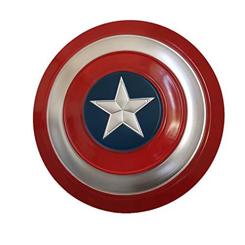 Escudo Capitan America Adulto Metal 1: 1 Apoyos de Película Escudo Capitan America Niños Capitán América Disfraz de Metal Shield para niños y fanáticos de Cospiay,Painted 47cm