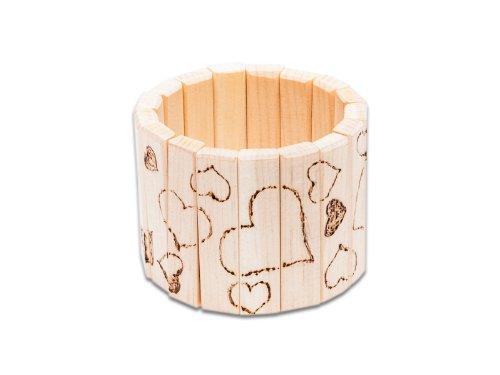 4betterdays Holzarmreif Holzarmband Armband aus Zirbenholz Handgemacht in Österreich