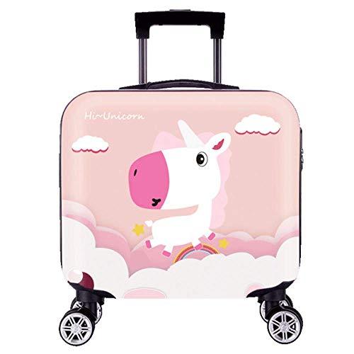 ANGELCITY 子供用 スーツケース キッズキャリー キャリーケース キャリ ーバッグ トランク 機内持ち込み 動物柄 可愛い おもちゃ箱 女の子 男の子 キッズ用 旅行かばん 誕生日プレゼント 軽量 旅行 小型 A1940 (シマウマ)
