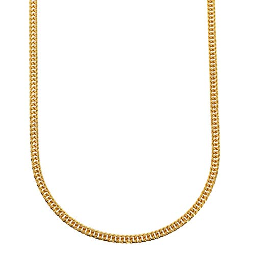 [フェアリーカレット] 24金ネックレス K24 6面W喜平チェーン 日本製 純金 検定印 約11g 50cm 引き輪