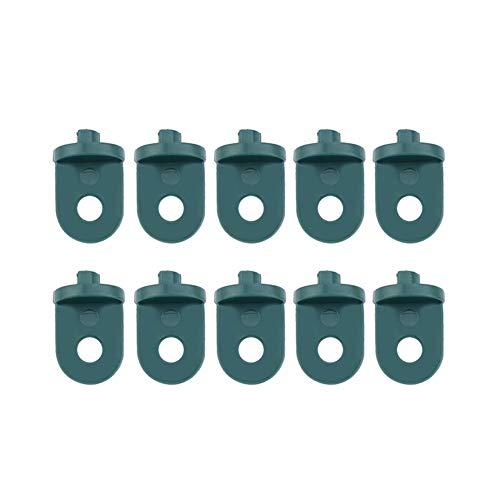 Duokon 10 Piezas de plástico Gancho de Efecto Invernadero para Colgar el Juego de para Colgar colgadores de Flores para Plantas Colgadores para invernaderos Herramienta Colgante(Verde)