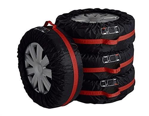 Funda Para Rueda Cubierta de neumáticos de repuesto para el coche para el verano bolsas de almacenamiento del protector de neumáticos del neumático del invierno de verano Accesorios de las ruedas negr