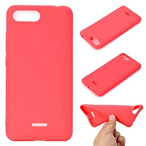 xingting EU Cover Compatibile con Xiaomi Redmi 6A Case Protezione Cellulare Custodia Liquid Silicone Ultra Sottile e Morbido TPU Morbida Protettiva AntiGraffio Antiurto-Rosso