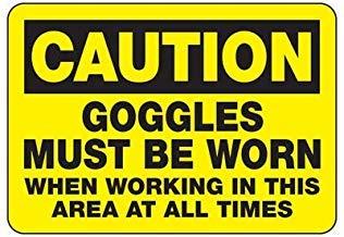 Vivityobert Warnschilder für Schutzbrillen Must Be Warning Schilder Metall Gefahrenhinweis Hinweisschild für Eigentum Zuhause Dekoration Hofschild 20,3 x 30,5 cm