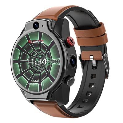 LEMFO LEM14 Smart Watch 4G 5ATM Impermeabile Android 10 Helio P22 Chip 4G 64GB LTE 4G SIM 1100mAh Face ID 2021 Doppia fotocamera da uomo
