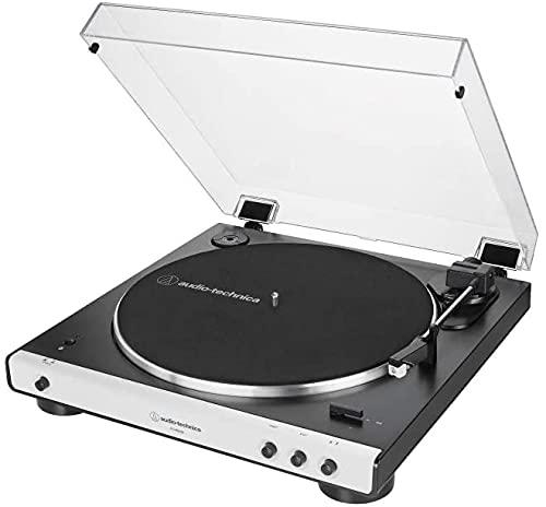 Audio Technica (at-Lp60xbtwh) Giradischi Autom. Bluetooth Bianco