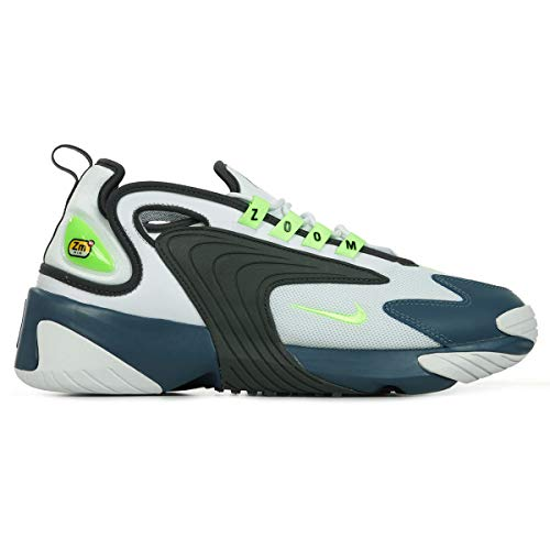 Nike Zoom 2K, Sneaker Uomo, Blanco/Ghost Green-Iron Grey-Thunderstorm, 43 EU