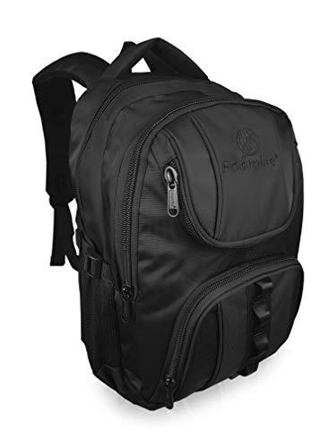 Roamlite Childrens School Backpack - Plain Logo - A4 Folder Size Waterproof Multi Pocket Padded Bag - Nylon 44 cm 25 Litre - RL18KPL