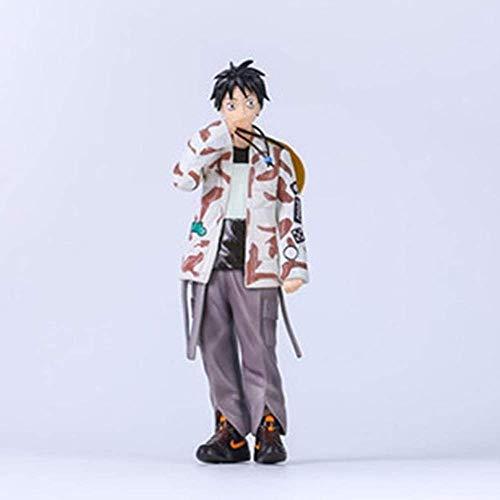 SXXYTCWL One Piece Enfants dans Les vêtements Tide Monkey D. Luffy Action Figure Collection Animated Personnage modèle Jouets for Enfants Cadeau A-22CM jianyou (Color : A, Size : 22CM)