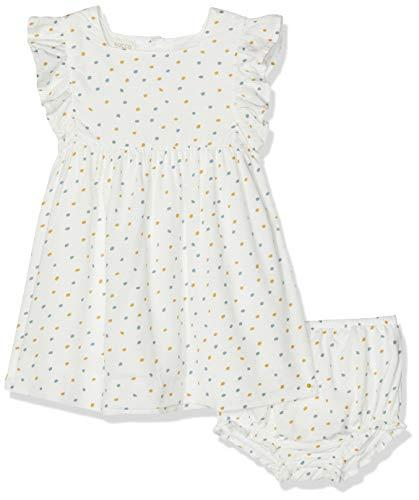 Gocco Vestido Estampado, Amarillo (Mostaza Yf), 92 (Tamaño del Fabricante:18/24) para Bebés