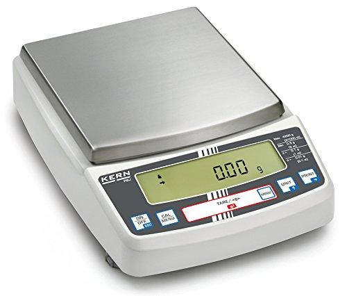Kern PBJ 4200-2M - Balanza de precisión, Balanza de laboratorio multifuncional con sistema de pesaje Single-Cell y aprobación de homologación [M], Campo de pesaje [Max]: 4200 g, Lectura [d]: 0