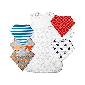 Saco de dormir para bebé, 100% algodón orgánico, 6-18 meses, color blanco, 1 tog unisex, color gris otoñal, viene con…