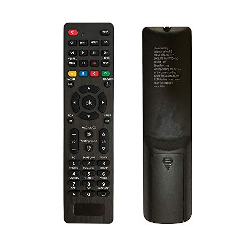 Universal Remote Control-Simple Settings Required. Universal Remote Control for Samsung, LG, Sony, Sharp, Hitachi, Vestel, Vizio, Toshiba, RCA, Sanyo, JVC, TCL, Hisense, Haier,Smart TVS