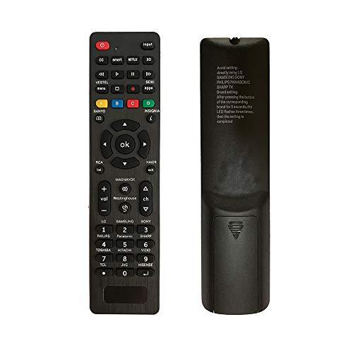 Se requieren configuraciones Simples de Control Remoto Universal. Universal Mando para Samsung, LG, Sony, Sharp, Vestel, Vizio, Philips, Toshiba, RCA, Sanyo, JVC, TCL, Hisense, Haier, Smart TVS