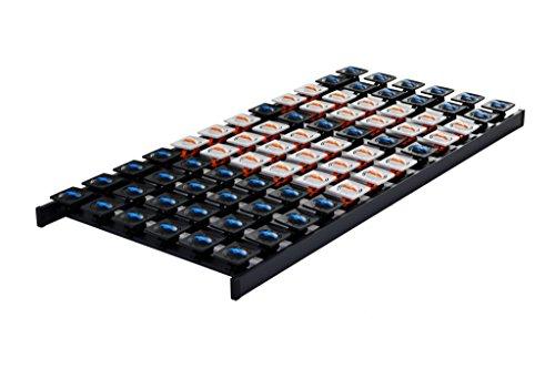DaMi Tellerrost Dream 120 x 200 cm - 5 Zonen Lattenrost mit 96 Tellermodulen & Individueller Härteverstellung