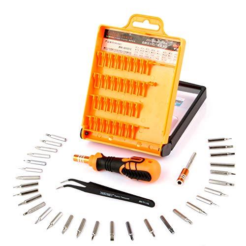 LFJG Juego De Destornilladores De Precisión 33 En 1, Kit De Destornillador De Trinquete Magnético, Herramienta De Reparación con Enchufes De 30 bits, Varilla De Extensión para Electrónica