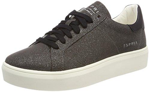 ESPRIT Damen Elda Lace up Sneaker, Schwarz (Black), 36 EU