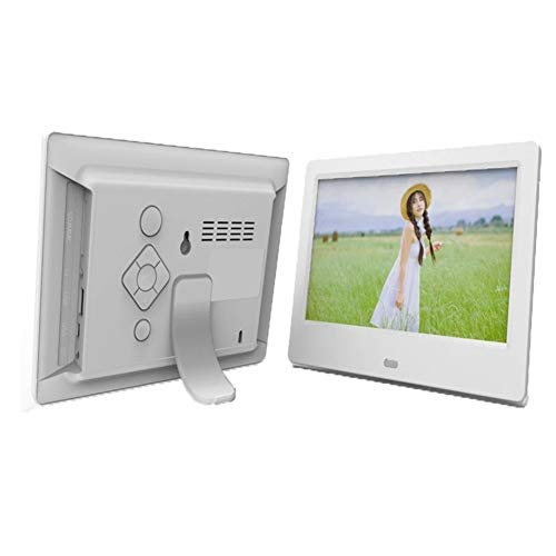 YIJIAN 7 Zoll HD Digital Photo Frame Video Player Digitaler Bilderrahmen mit Musik, Video-Funktion (Color : White)