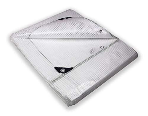 Tata Home Telo Antistrappo Retinato Rinforzato Trasparente con Occhielli in Alluminio Misura cm 500x600 Metri 5,0x6,0
