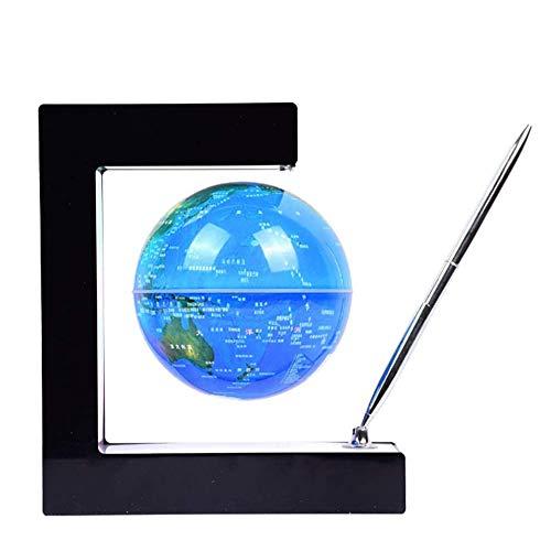 4 Pulgadas Mundo Globo con Luces Color LED,Azul Globo del Mundo con Luz para Niños Lámparas de Mapa del Mundo