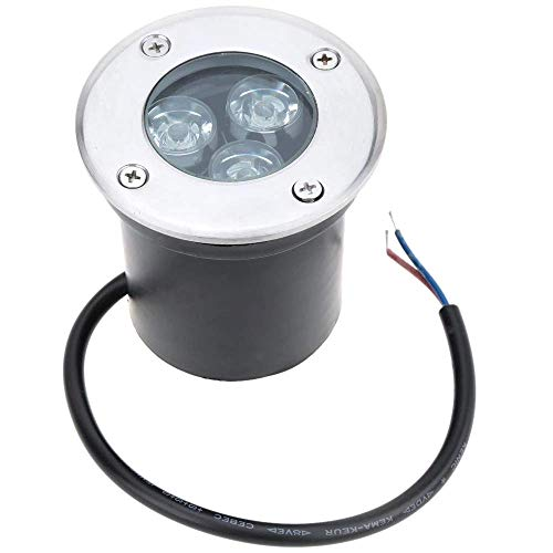 Eidyer LED Foco empotrable al Aire Libre,3W LED luz subterránea, luz de camino subterráneo, AC85-265V luz paisaje decorativa al aire libre 350LM, IP67
